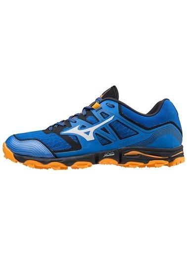 Mizuno Wave Hayate 6 Erkek Koşu Ayakkabısı Mavi/Turuncu Mavi